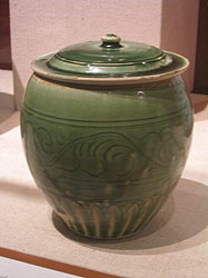 14th-15th Century Northern Vietnamese Stoneware Covered Jar